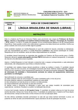 24 língua brasileira de sinais (libras) - Seletivos IFTO