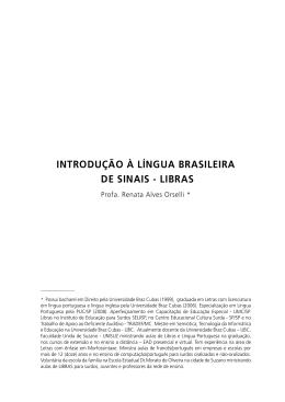 introdução à língua brasileira de sinais - libras