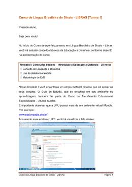 Curso de Língua Brasileira de Sinais