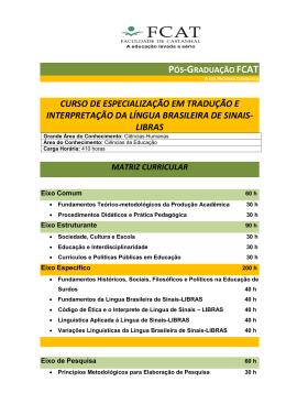 Especialização em Tradução e Interpretação da Língua
