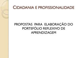 CIDADANIA E PROFISSIONALIDADE