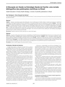 A Educação em Saúde na Estratégia Saúde da Família: uma