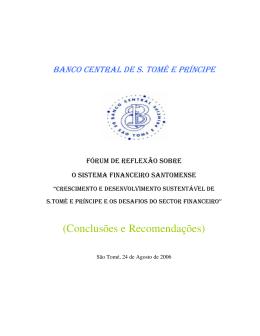 (Conclusões e Recomendações) - Banco Central de São Tomé e