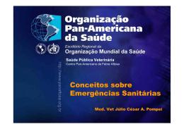 Conceitos sobre Emergências Sanitárias