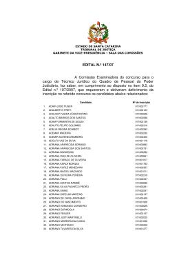 Edital 147/07 - Tribunal de Justiça de Santa Catarina