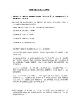 internacionalização ppcj 1. eventos ocorridos no brasil com