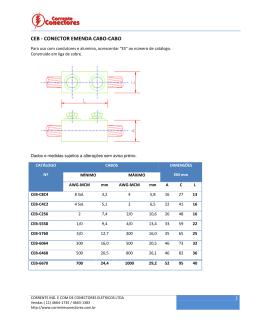ceb - conector emenda cabo-cabo