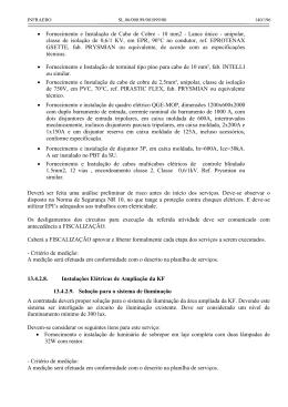 • Fornecimento e Instalação de Cabo de Cobre - 10 mm2