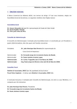 Relatório e contas 2008