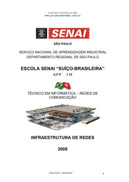 """ESCOLA SENAI """"SUÍÇO-BRASILEIRA"""""""