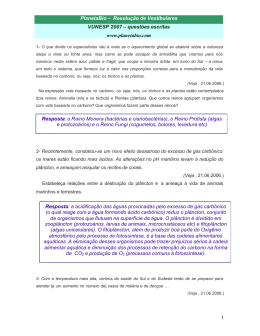 PlanetaBio – Resolução de Vestibulares VUNESP 2007 – questões