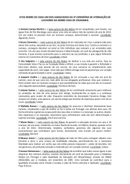 ATOS NOBRE DE CADA UM DOS AGRACIADOS DA 3ª