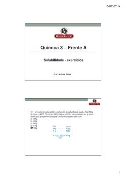 Química 3 – Frente A