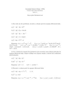 Equaç˜oes Diferenciais 1) Em cada um dos problemas