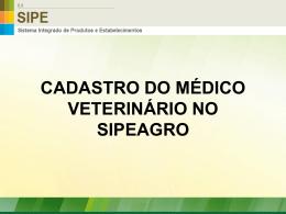 Manual de cadastro de médico veterinário