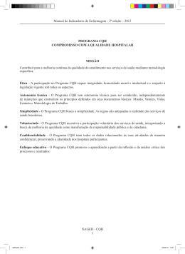 CQH 1 Manual de Indicadores de Enfermagem