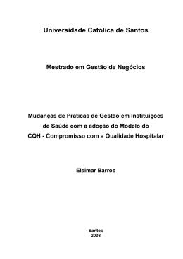 Elsimar Barros - Universidade Católica de Santos