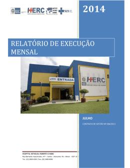 RELATÓRIO DE EXECUÇÃO MENSAL
