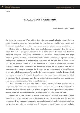 CONTO: Sapo, café e um hipermercado – Francisco Cabral Júnior
