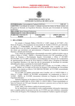 Processo: 23001 - Ministério da Educação