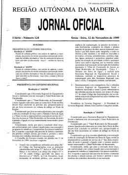 REGIÃO AUTÓNOMA DA MADEIRA - Governo Regional da Madeira