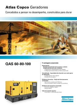 Atlas Copco Geradores QAS 60-80-100