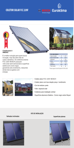 Catalogo Coletor Solar
