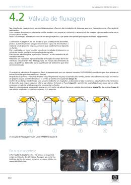Válvula de fluxagem