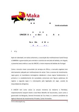 UNICER: As cervejas da corrupção em Angola