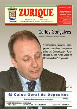 Carlos Gonçalves - Centro Lusitano de Zurique