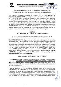 Contrato de Serviço - Colégio Londrinense