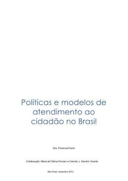 Políticas e modelos de atendimento ao cidadão no