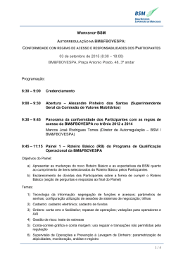 Programa do workshop