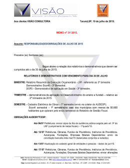 memorando 31/15 -obrigações de julho 2015