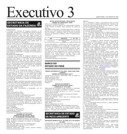 Executivo 3 QUINTA-FEIRA, 13 DE AGOSTO DE 2009