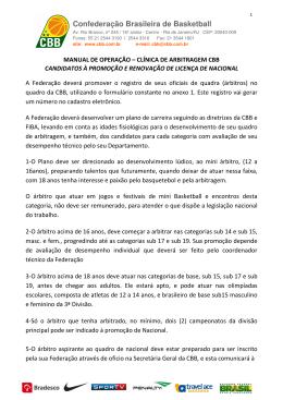 N°116/2015 - Anexo I - Confederação Brasileira de Basketball #CBB
