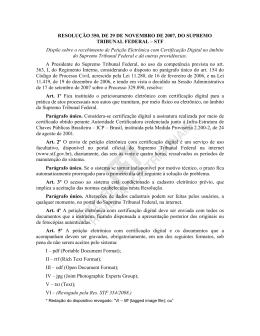 resolução 350, de 29 de novembro de 2007, do supremo tribunal