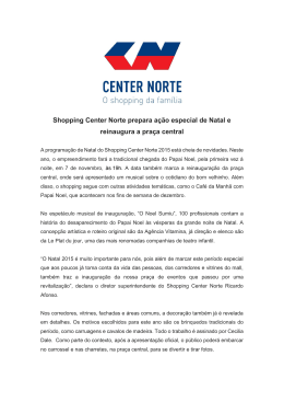 Shopping Center Norte prepara ação especial de Natal e