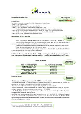 Pacote Reveillon 2012-2013