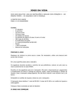 JOGO DA VIDA - Aluguebrinque.do