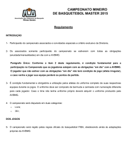 Regulamento campeonato AVBMG 2015