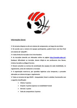 Normas de constituição das equipas