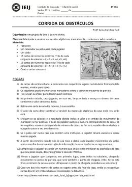 corrida de obstáculos - IEIJ - Instituto de Educação Infantil e Juvenil