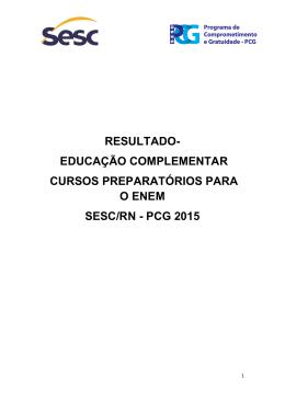 RESULTADO- EDUCAÇÃO COMPLEMENTAR CURSOS
