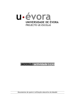 MOODLE: actividade LIÇÃO - Projecto UE-Escolas