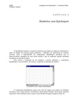 Relatórios com Quickreport