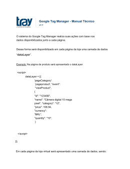 Google Tag Manager Manual Técnico