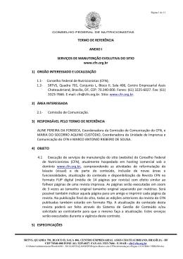 Termo de Referência - Conselho Federal de Nutricionistas