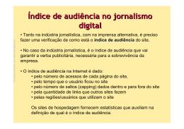 Índice de audiência no jornalismo digital