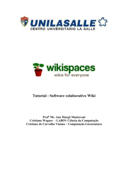 Tutorial Wikispaces